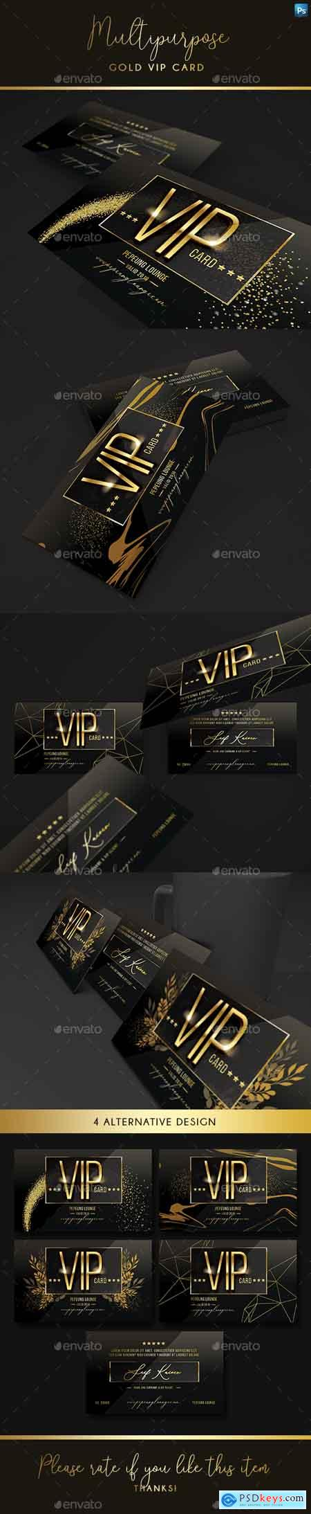 Graphicriver Multipurpose Gold Vip Card