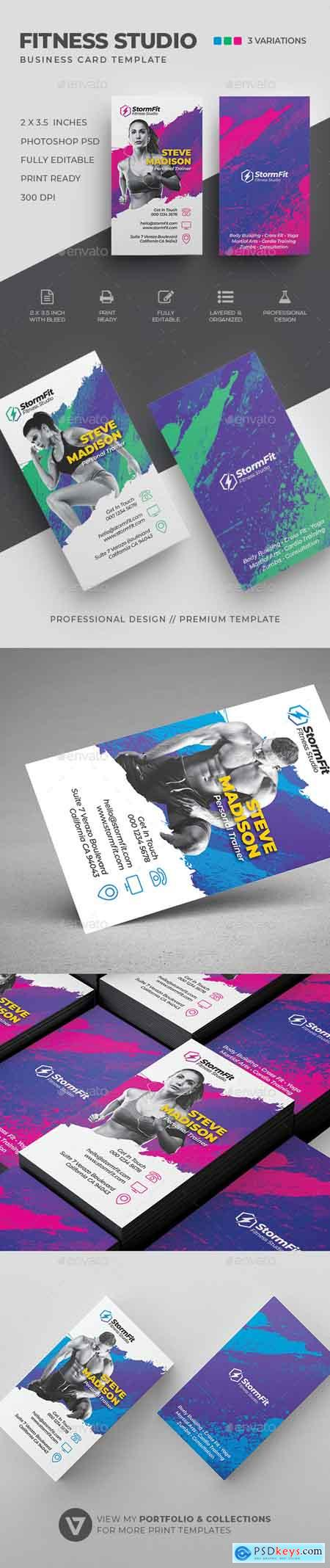 Graphicriver Fitness Business Card