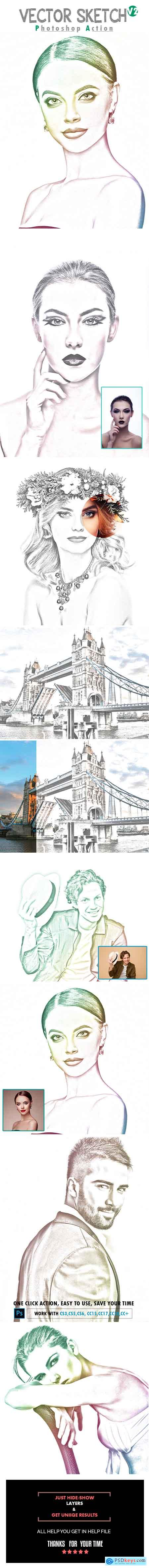 Graphicriver Vector Sketch V2 Photoshop Action