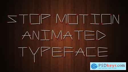 Videohive Stop Motion Typeface Free