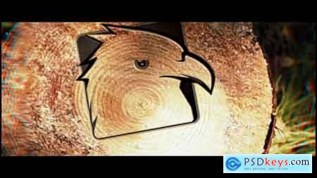 Videohive Saw Cut Tree Logo Free