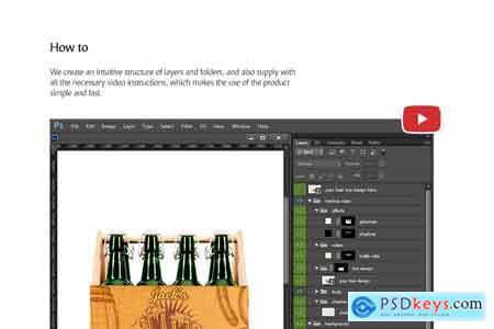 Creativemarket Craft Beer Box Mockup