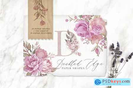 Creativemarket Deckled Edge Paper Shapes