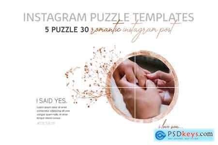 Creativemarket Romantic Instagram Puzzle Templates