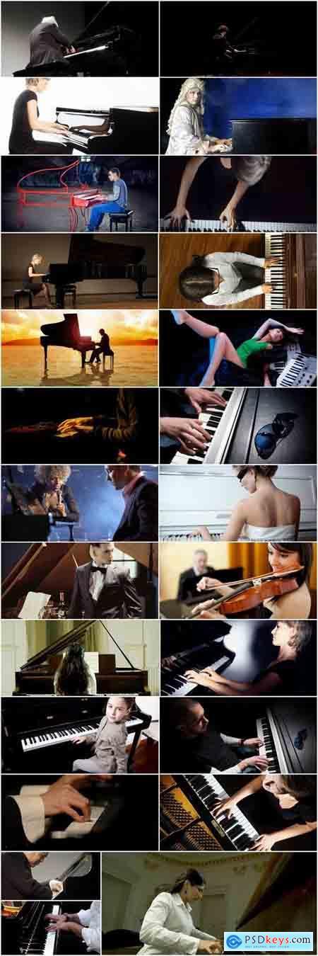 Pianist piano Clavier keyboard player symphonic music 25 HQ Jpeg