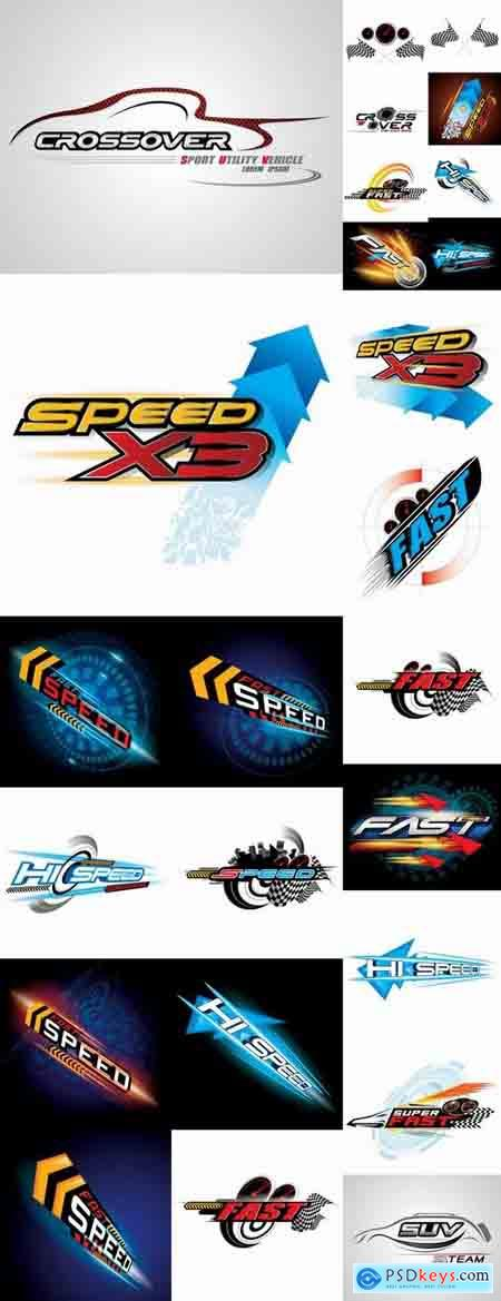 Speed picture vector logo illustration of the business campaign 41-25 Eps