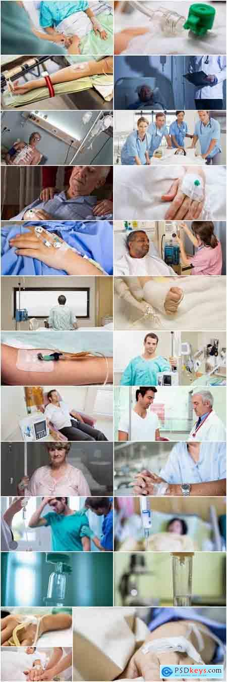 Patient on a drip reanimation human collapse 25 HQ Jpeg