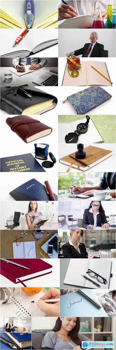 Business bookmark accessory notebook pen writing 25 HQ Jpeg