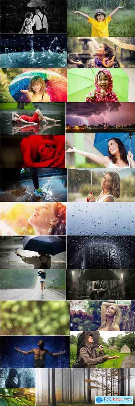 Rain water wet asphalt autumn umbrella splashes 25 HQ Jpeg