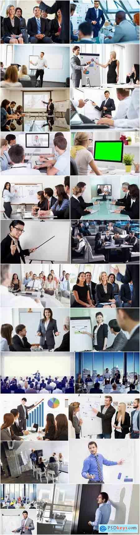 Business presentation businessman business woman 25 HQ Jpeg