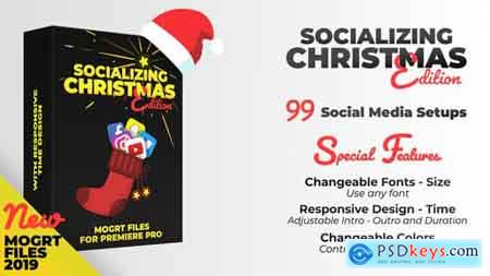 Videohive Socializing Christmas Edition MOGRT files for Premiere PRO Free
