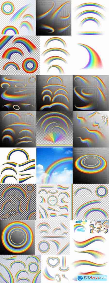Rainbow colored thread strip tape 25 EPS