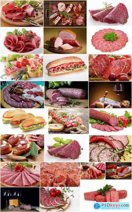 Salami sausage delicacy meat 25 HQ Jpeg