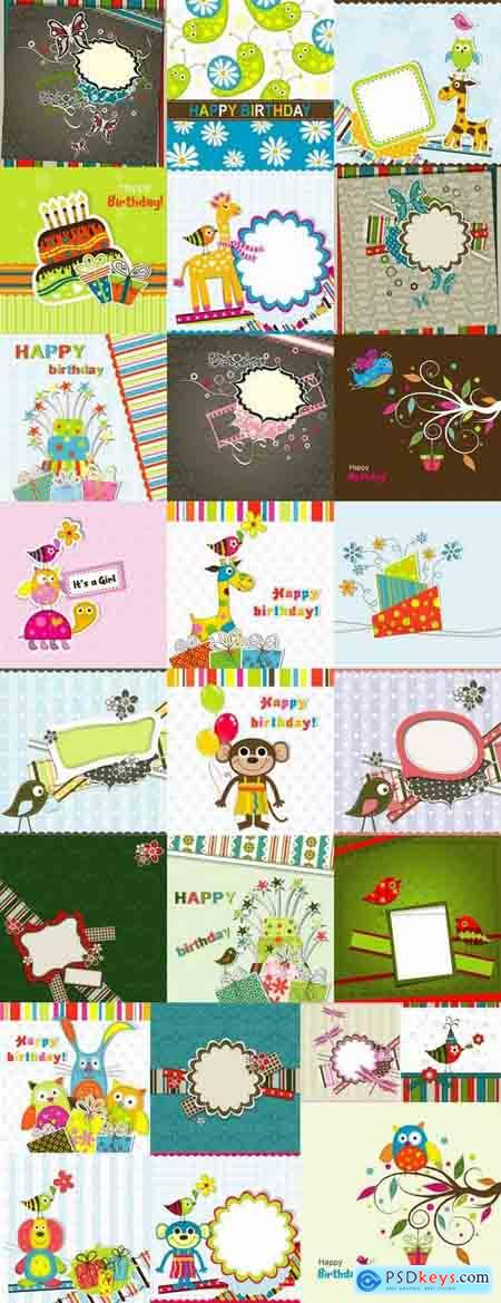 Gift card invitation card flyer background is cover 25 EPS