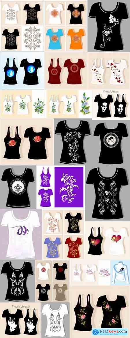 Prints on thing drawing clothes T-Shirt vector image 25 EPS