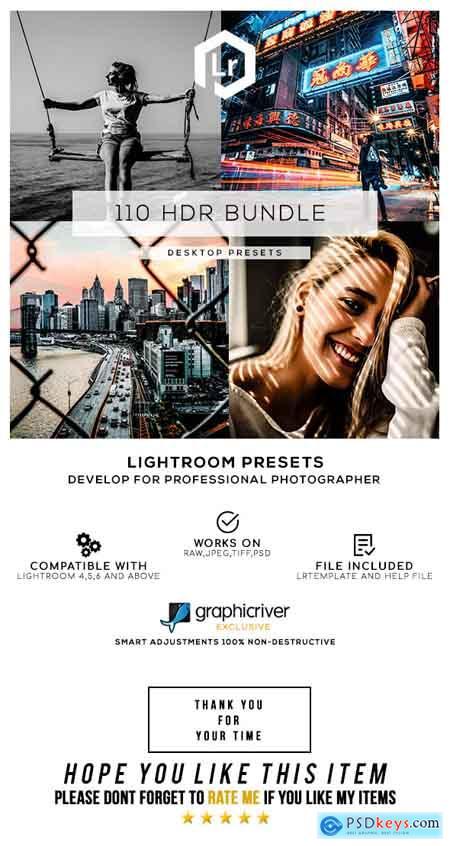 Graphicriver 110 HDR Bundle Lightroom Presets