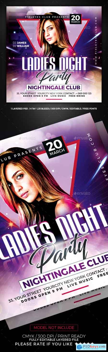 Graphicriver Ladies Night Club Flyer