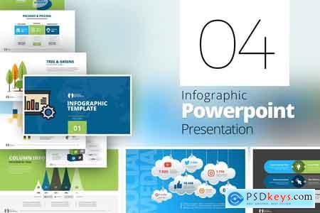 CreativeMarket Minimal Infographic PPTX Bundle