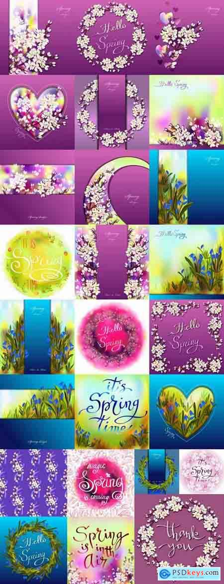 Gift cards Spring vector image 25 EPS
