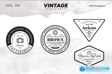 Vintage Logo & Badge Vol. 4