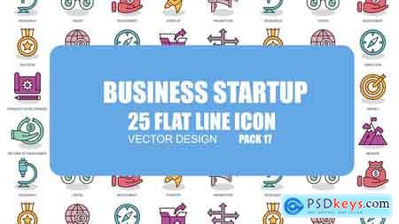 Videohive Business Startup - Flat Animation Icons Free