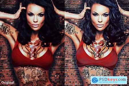 Creativemarket Digital Vector Art Photoshop Action
