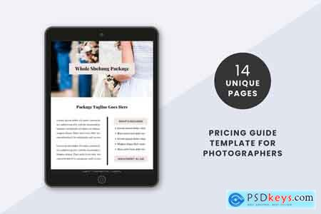 Creativemarket Photographers Pricing Guide Template