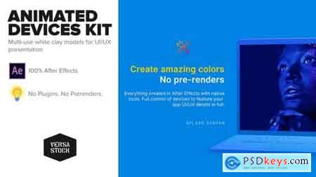 Videohive Animated Devices Kit UI UX Promo Free