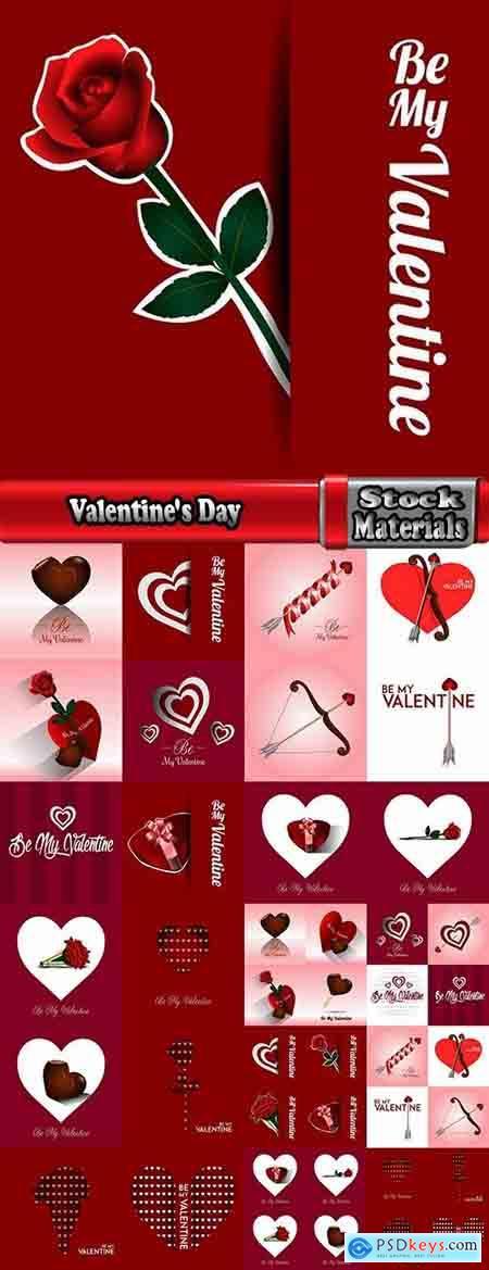 Valentine's Day gift heart still life illustration holiday 25 EPS