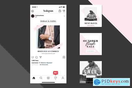 Creativemarket Minimalist Instagram Posts