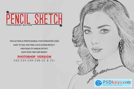 Thehungryjpeg Pencil Sketch Photoshop Action 3535364