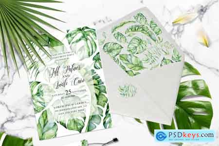 Creativemarket Tropical Greenery Wedding Suit