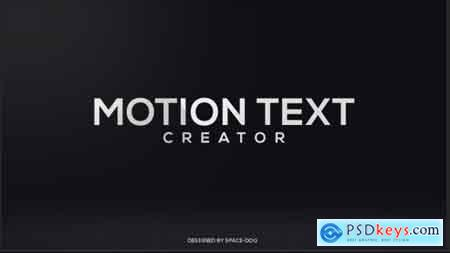 Videohive Motion Text Creator Free