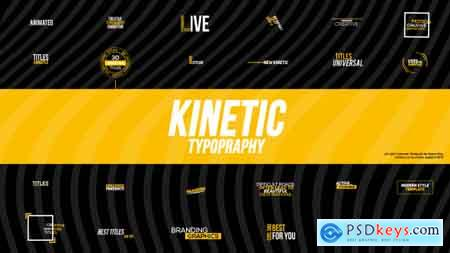 Videohive Kinetic Typography Free