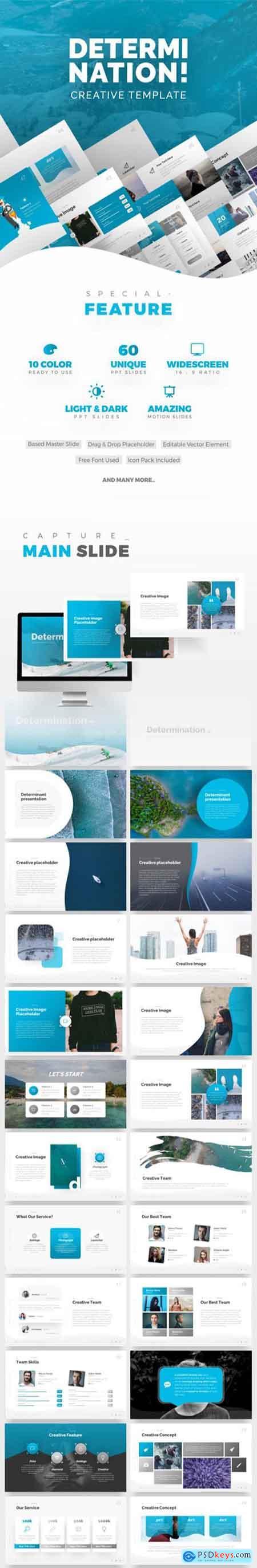 Graphicriver Determination PowerPoint Presentation Template