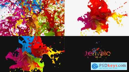 Videohive Liquid Paint Splash Logo Free