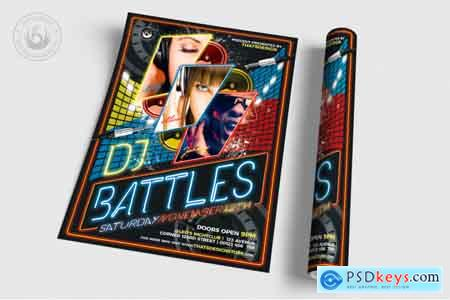 Creativemarket DJ Battle Flyer Template V1