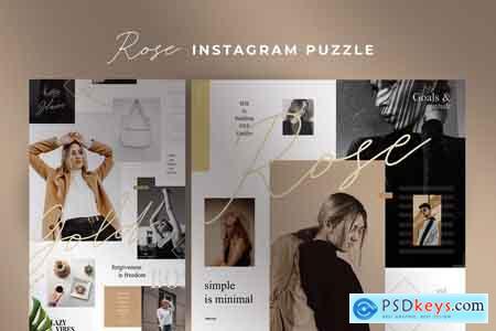 Creativemarket Rose - Instagram puzzle