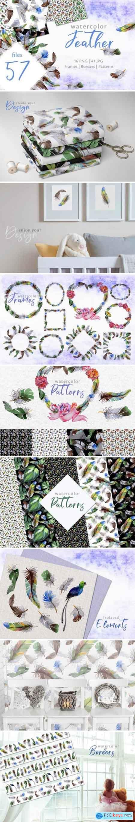 Creativemarket Feather Watercolor png