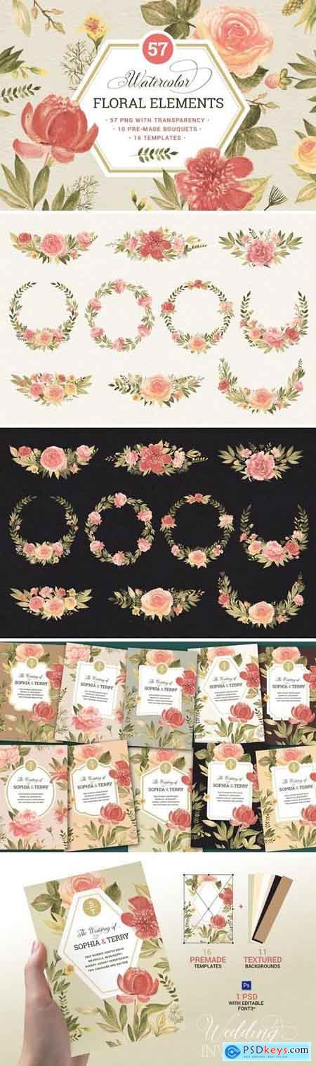 Creativemarket 57 Floral elements & extrass