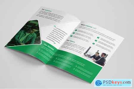 Thehungryjpeg Corporat Bi-Fold brochure template