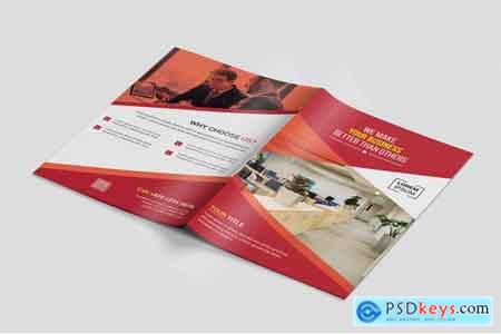 Thehungryjpeg Bi-Fold Business Brochure template