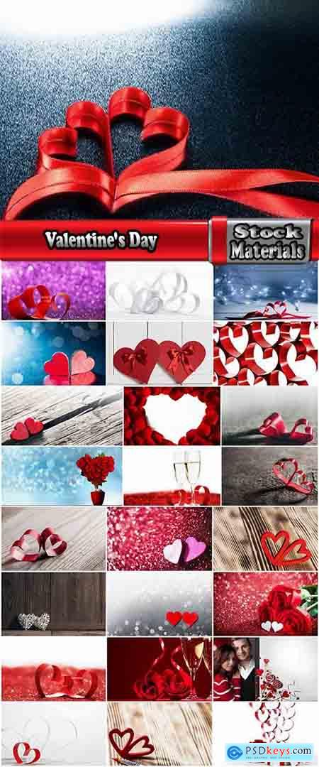 Valentine's Day heart decoration ribbon red paint 25 HQ Jpeg