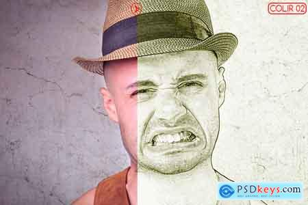Thehungryjpeg Vector Sketch Photoshop Action