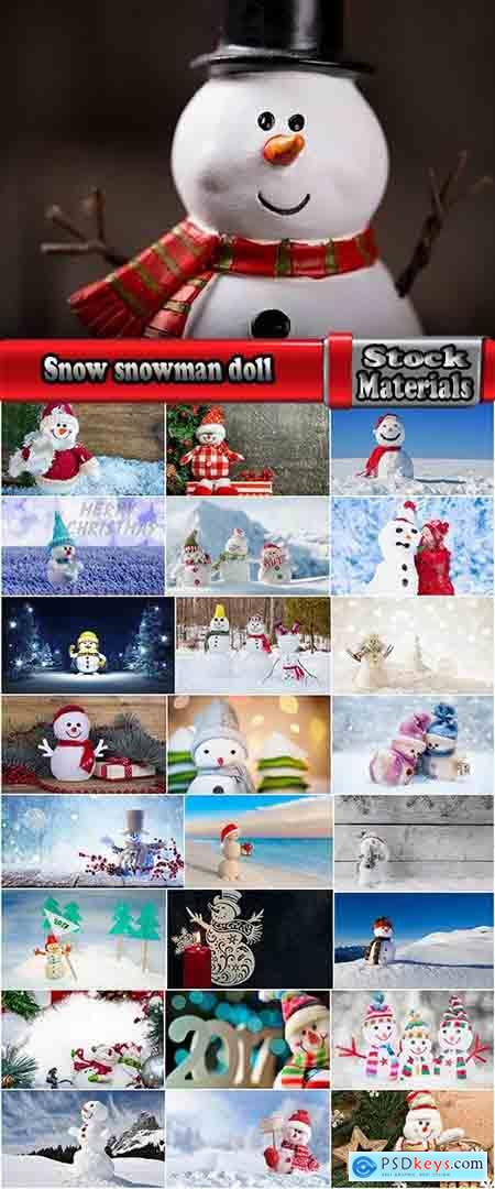 Snow snowman doll decoration new year christmas 25 HQ Jpeg