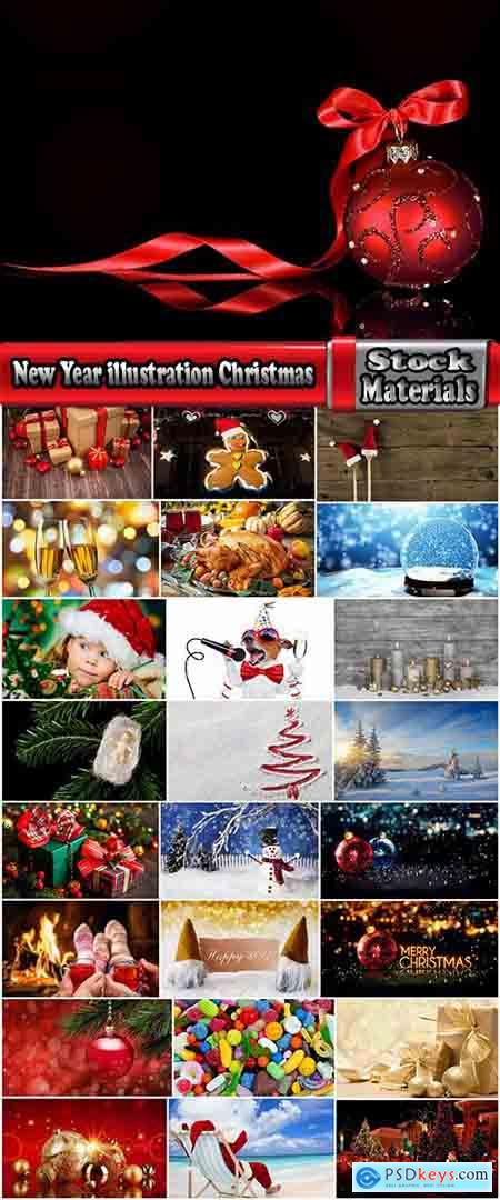 New Year illustration Christmas decoration gift holiday tree toy logo 25 HQ Jpeg
