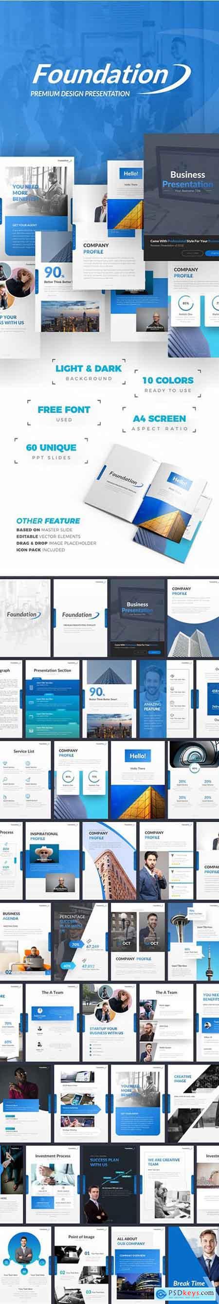 Graphicriver Foundation Portrait Presentation Template » Free