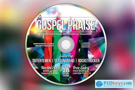 Creativemarket Gospel Praise CD Album Artwork