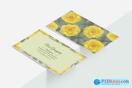 Creativemarket Lemon Wild Rose PSD Business Card