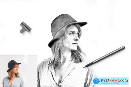Creativemarket Pencil Drawing Photoshop Action